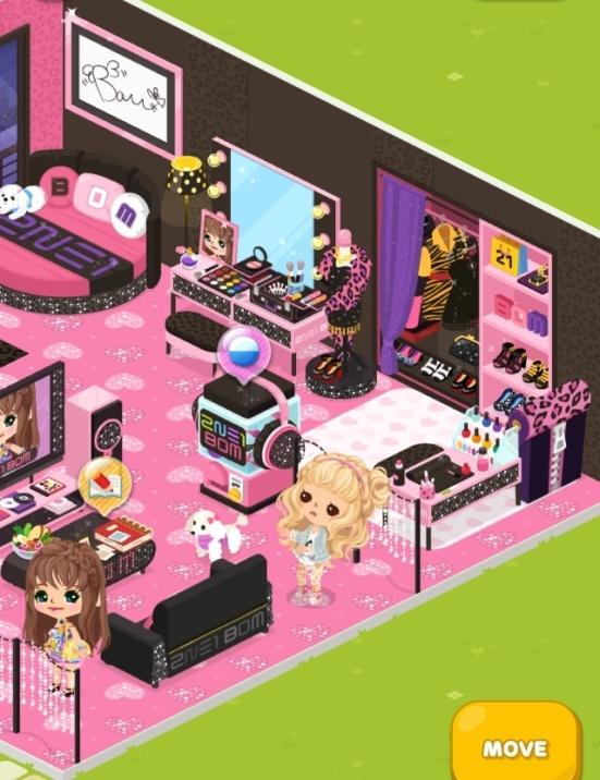 Bom's cute room in Line Play app